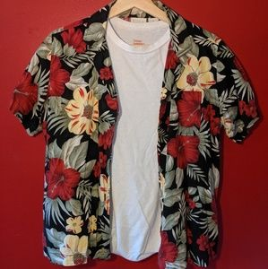 Tropical Short Sleeve Button-Up